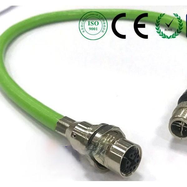 科迎法m12xcode8芯连接器带CAT6网线工业相机线束