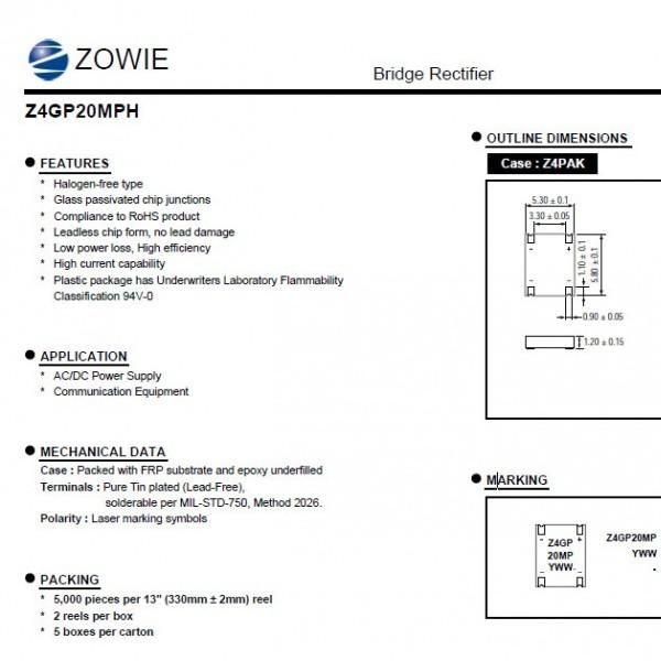 Z4GP20MPH-智威-桥式整流器