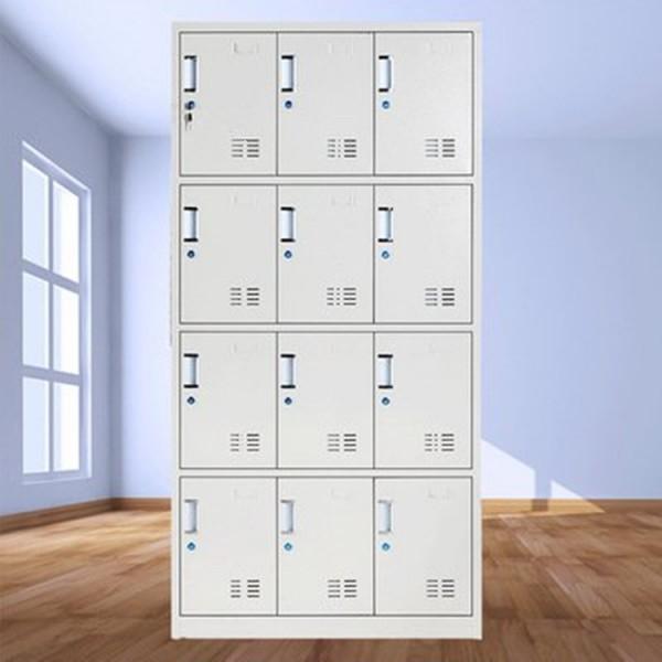 员工车间储物柜 存储空间大 层板可以自行调节高低