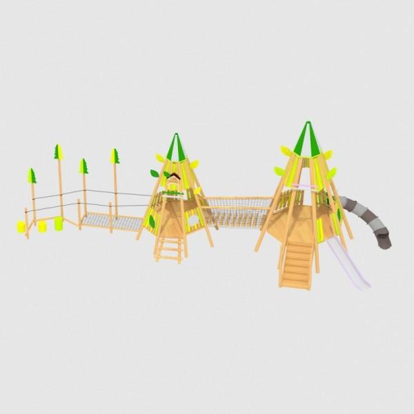 幼儿园户外实木制大型组合拓展玩具游乐场设备