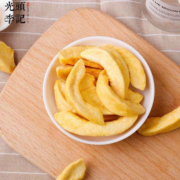 黄桃脆果蔬脆厂家原料散货供应生产加工代理加盟批发订制