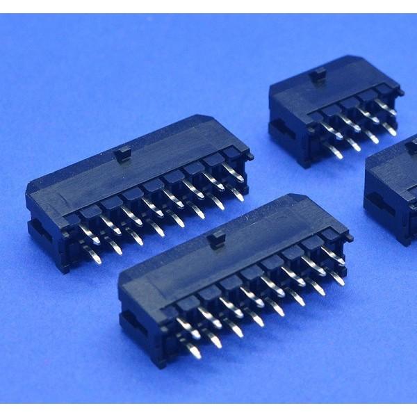 MOLEX小5557 3.0双排弯针带扣针座
