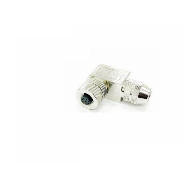 以太网交换机M12-8孔90度弯角型螺丝压接式接头