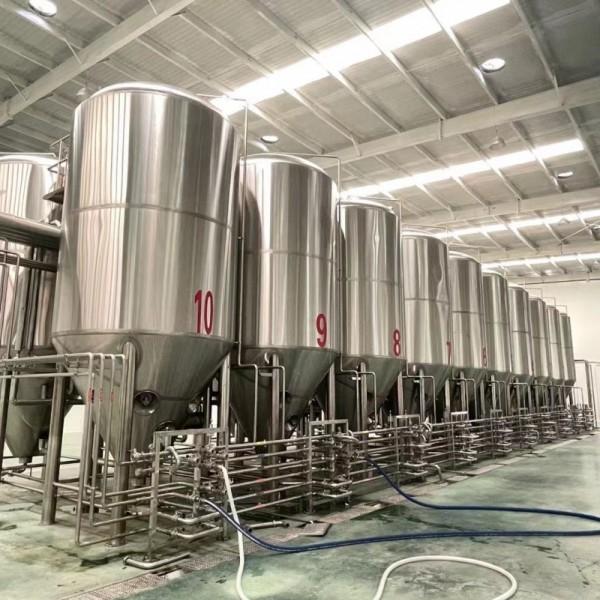 新疆啤酒厂啤酒设备 大型精酿啤酒设备  5000升啤酒设备