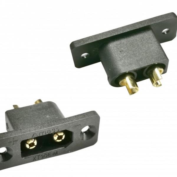 艾迈斯5A-100A电源加信号储能电源插头XT90E