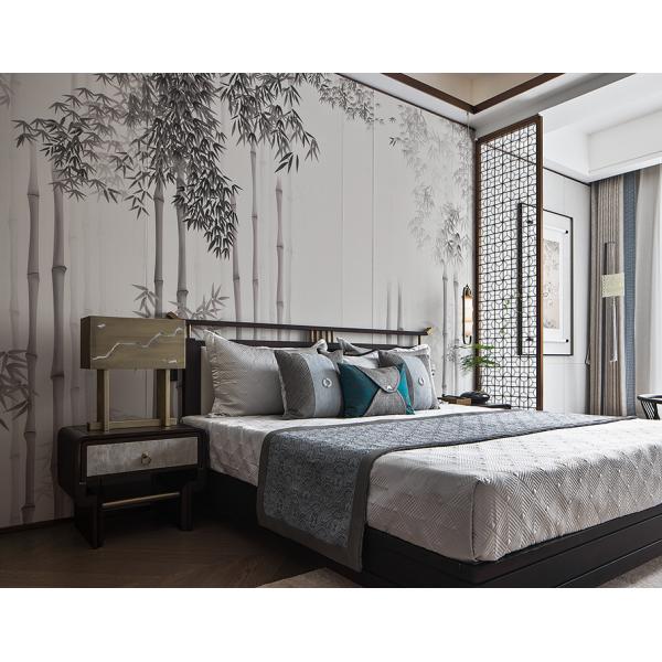 佛山生产商批发 家装竹木纤维板 集成墙板 定制卧室床头背景墙